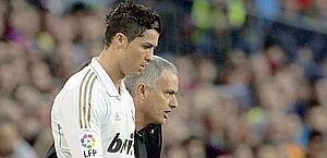 Mourinho e Ronaldo, tre trofei insieme al Real. Epa