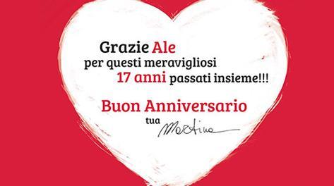 Auguri Di Anniversario Di Matrimonio Per Marito.La Colombari Sul Corriere Buon Anniversario Billy La Gazzetta