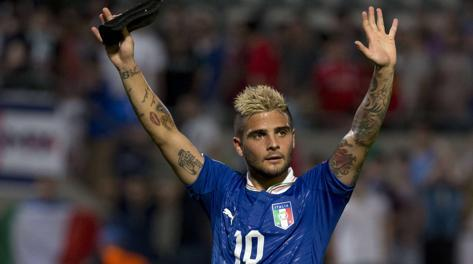 Lorenzo Insigne, un gol in due gare all'Europeo Under 21. Afp