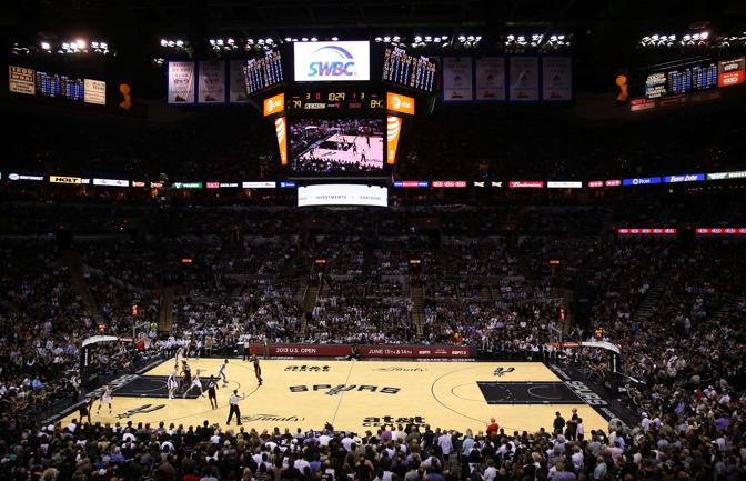 Un'immagine dell'At&T Center di San Antonio. Afp