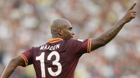 Maicon, arrivato in estate dal Manchester City. Ansa