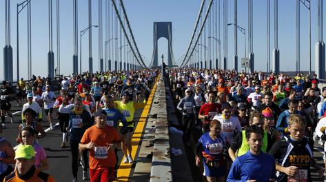 La maratona di New York nel 2011. Reuters