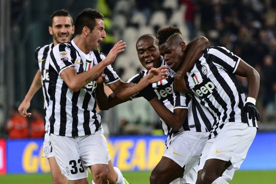Il balletto di Pogba. Afp
