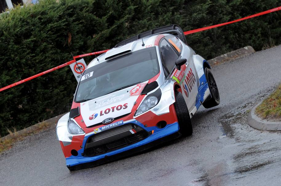 La Ford Fiesta Rs del team M-Sport guidata da Robert Kubica (Afp)