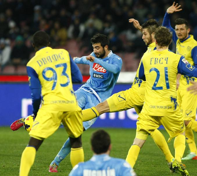 Albiol segna il gol del pari all'88'. Afp