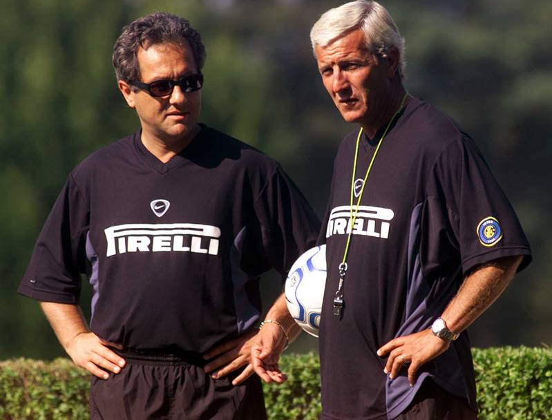 Con Marcello Lippi all'Inter (Ap)