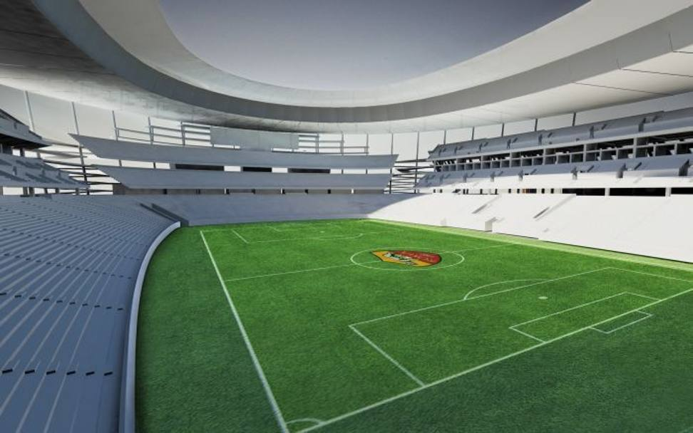 Roma svelato il nuovo stadio pallotta incuter timore for Piscina g s roma 53 roma