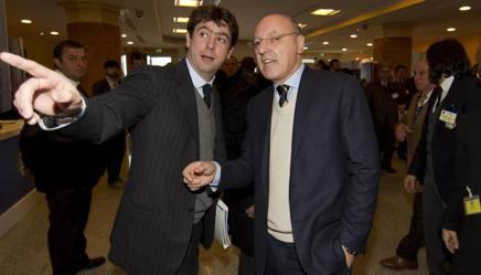 Beppe Marotta con Andrea Agnelli. Ansa