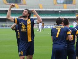 Luca Toni sugli scudi: 19 gol stagionali a 36 anni. Ansa