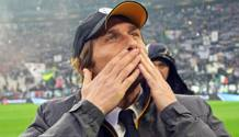 Antonio Conte, allenatore della Juventus da 3 stagioni. Ansa