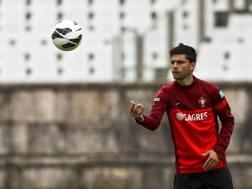 Helder Postiga, attaccante della Lazio. Epa