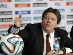 Il commissario tecnico del Messico, Miguel Herrera. Action Images