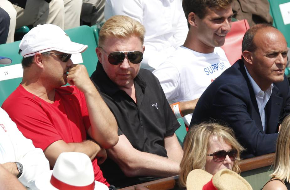 Boris Becker in tribuna. Epa
