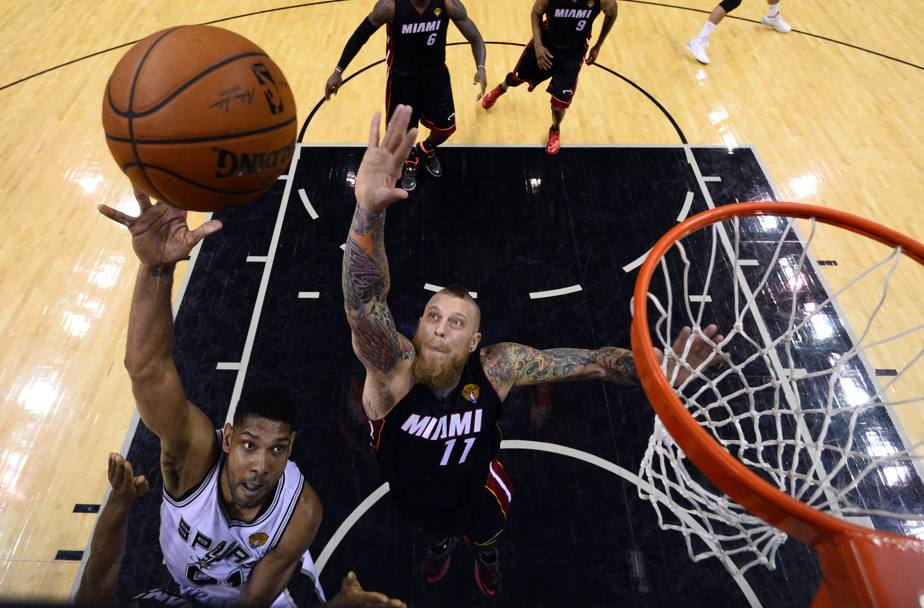 Tim Duncan #21 e Chris Andersen #11 (Reuters)