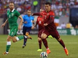 Cristiano Ronaldo al rientro dopo l'infortunio. Reuters