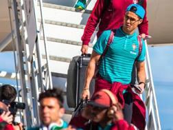 Cristiano Ronaldo sbarca in Brasile. Epa