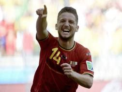 Dries Mertens, ha segnato il gol vittoria del Belgio. Afp