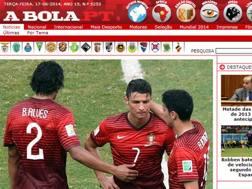 La vetrina del quotidiano portoghese A Bola