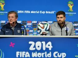 Hodgson e Gerrard in conferenza. Afp