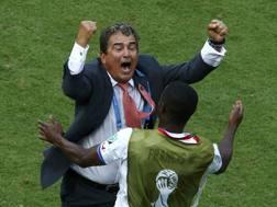 Ruiz esulta dopo il gol-partita. Reuters