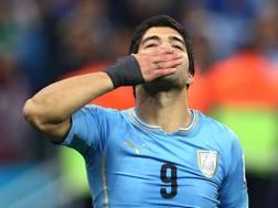 Il bacio di Luis Suarez. Getty Images