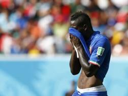 La delusione di Mario Balotelli. Reuters