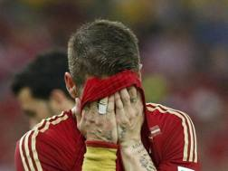 Nella disperazione di Diego Costa tutta la delusione spagnola. Reuters