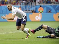 Karim Benzema, decisivo contro la Svizzera. Ap