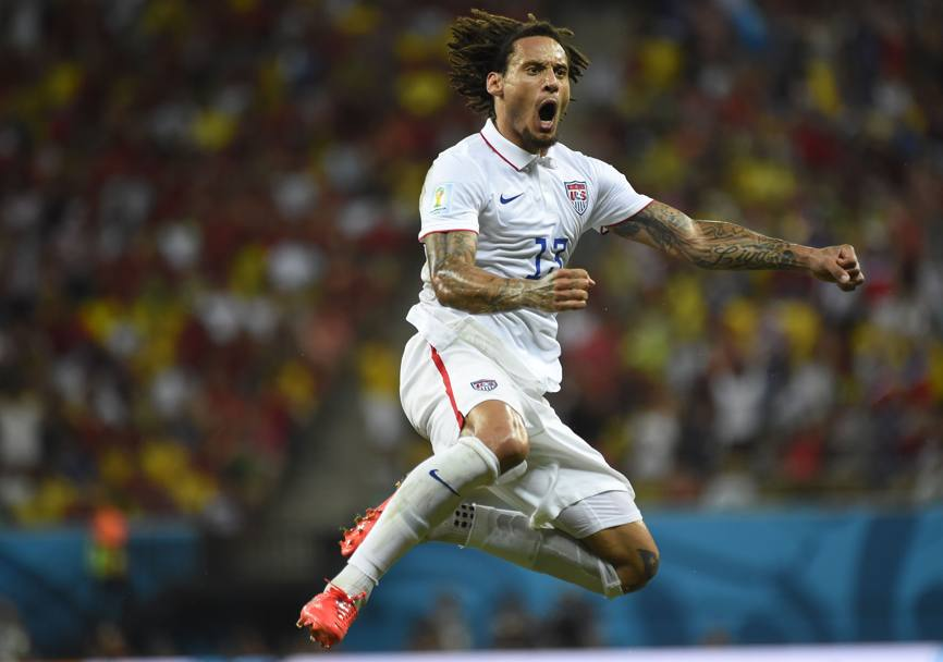 L'esultanza di Jermaine Jones. Afp