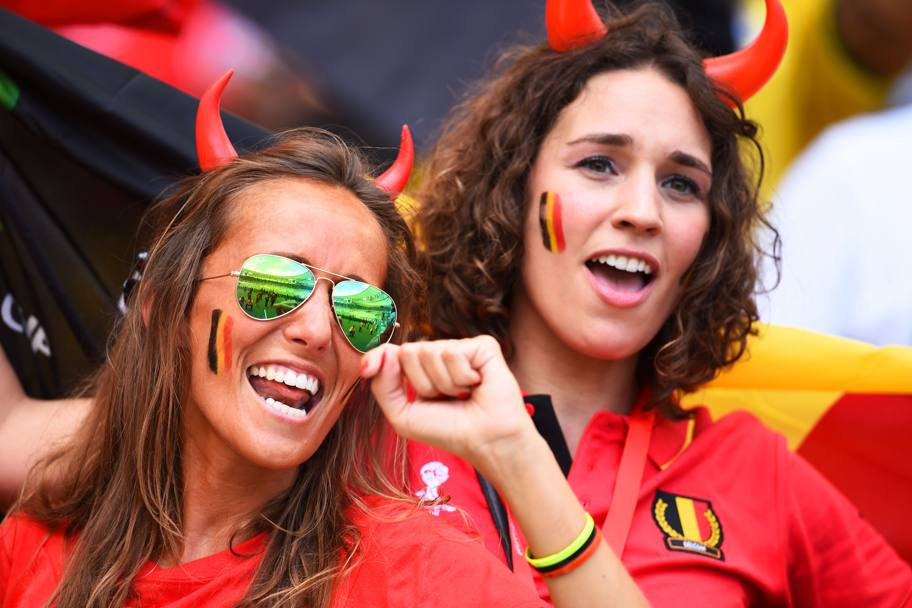 Festa grande in tribuna: ha appena segnato Origi (Getty Images)