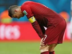 La delusione di Cristiano Ronaldo. Action Images