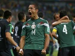La gioia del Chicharito Hernandez. Reuters