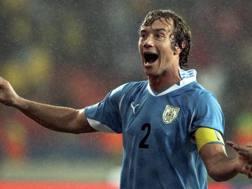 Diego Lugano, 33 anni, storico difensore e capitano dell'Uruguay. Epa