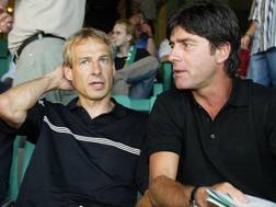 Jürgen Klinsmann con il suo assistente Joachim Löw nel 2006. Afp