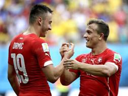 Josip Drmic, due assist e Xherdan Shaqiri, tre gol. Ap