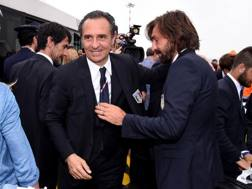 Addii: Andrea Pirlo e Cesare Prandelli. Getty Images