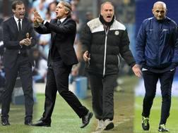 Da sinistra, Allegri, Mancini, Guidolin e Spalletti.
