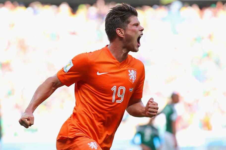 L'esultanza rabbiosa di Huntelaar. Getty