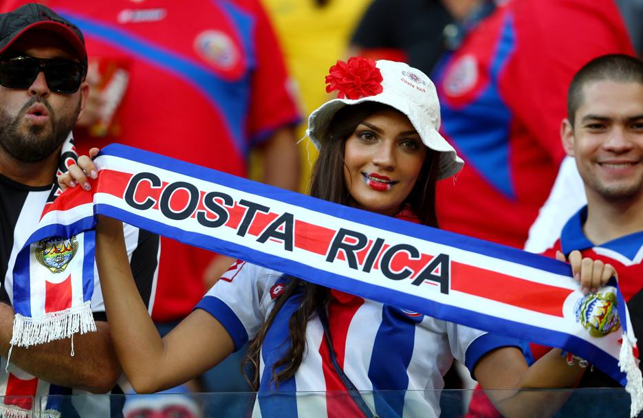 La splendida torcida costaricana. Getty Images