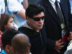 Diego Armando Maradona a Belo Horizonte per Argentina-Iran. Getty