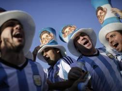 L'entusiasmo dei tifosi argentini. Afp