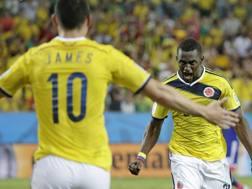I colombiani Jackson Martinez e James Rodriguez. Lapresse