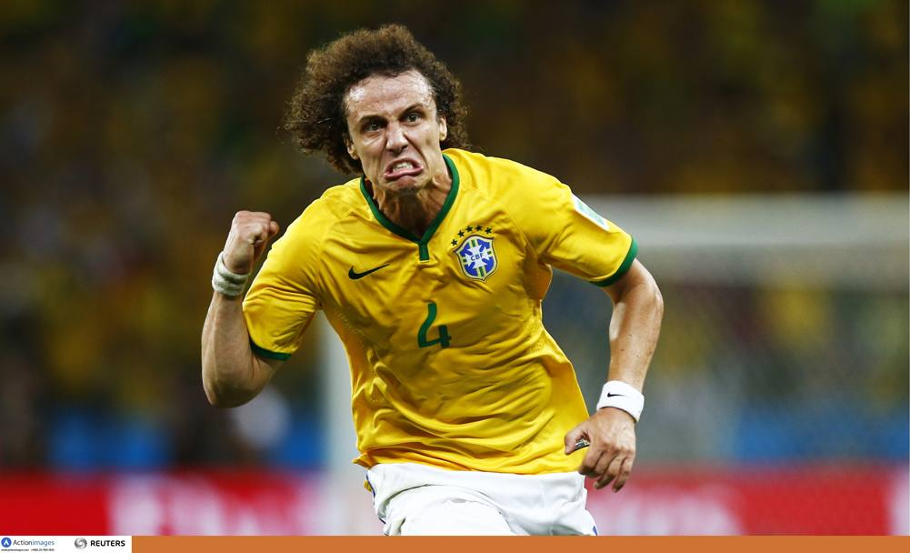 L'esultanza rabbiosa di David Luiz. Action Images