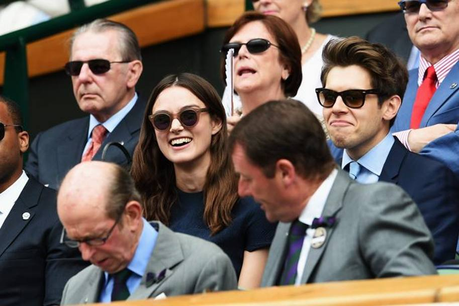 L'attrice inglese Keira Knightley e il marito, il musicista James Righton .Getty