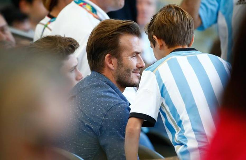 C'è anche David Beckham. Getty
