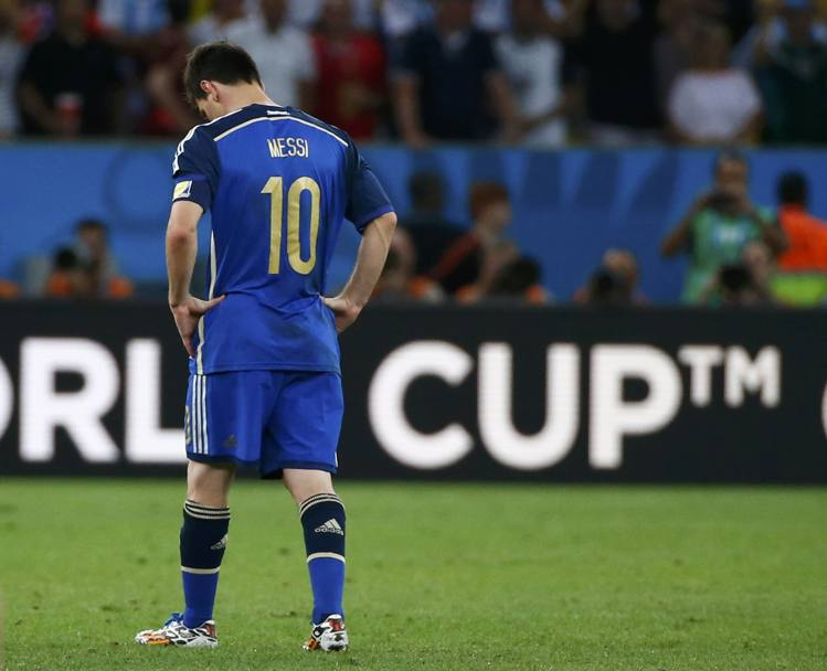 La delusione di Messi. Action Images