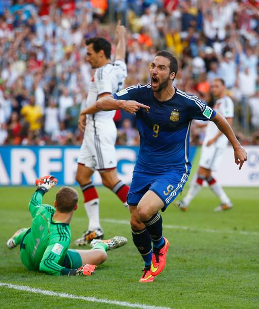Higuain esulta. Getty