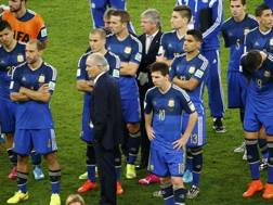 Lo sconforto degli argentini a fine partita. Reuters