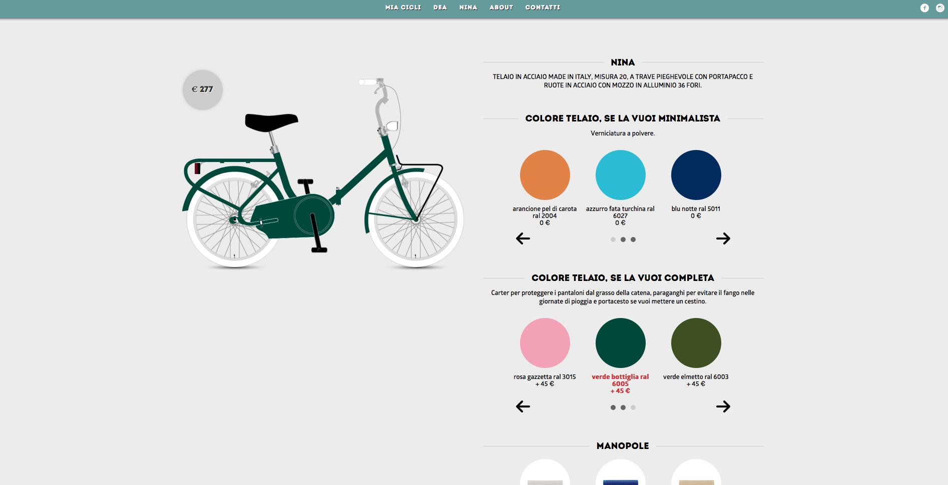 Se moda e ciclismo si incontrano ecco mia cicli la for Costruisci la tua stanza online