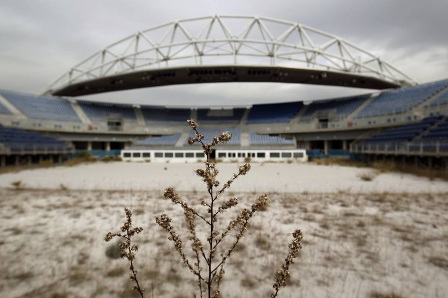 Il Faliro Olympic Beachvolley Complex in una foto del 2012. Reuters